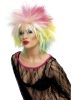 1980's Cute Multi-coloured Pop Star Punk Wig